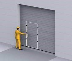 permite comunicarea cu celelalte incaperi fara a mai deschide usa sectionala