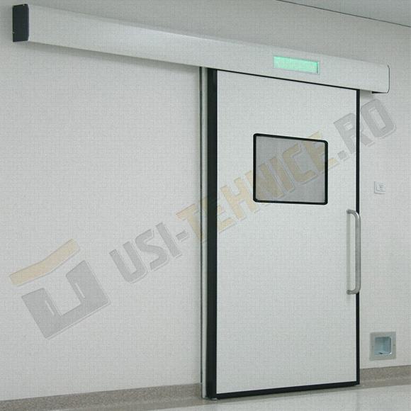 usa culisanta pentru radiologie cu 1 canat si vitraj dreptunghiular