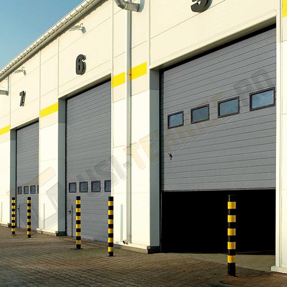 usi sectionale industriale cu sectiuni de panel vitrat