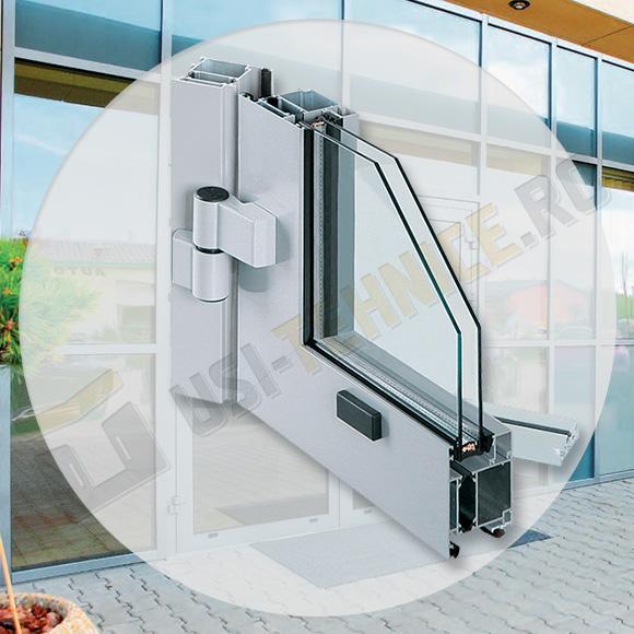 profil din aluminiu cu bariera termica pentru usi de exterior