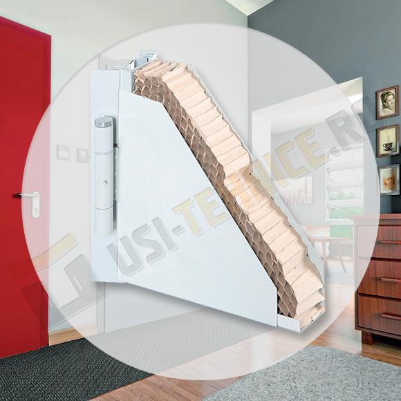 usa metalica de interior izolata cu fagure de stabilizare