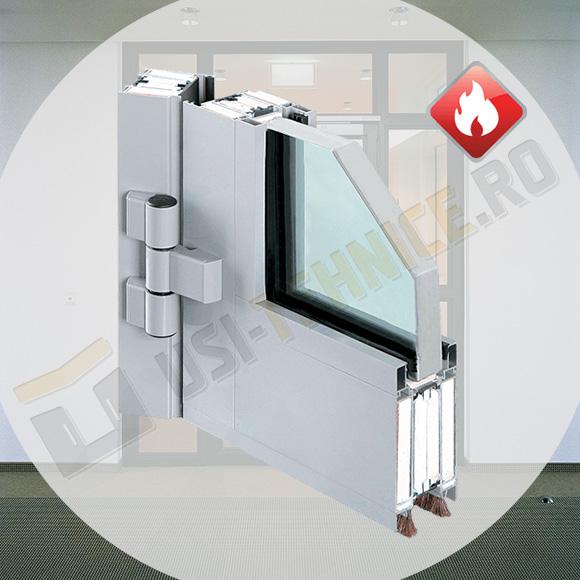 profil de usa antifoc cu canat din sticla