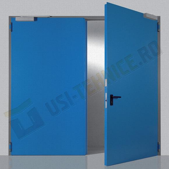usa metalica multifunctionala de interior cu doua canaturi si amortizor