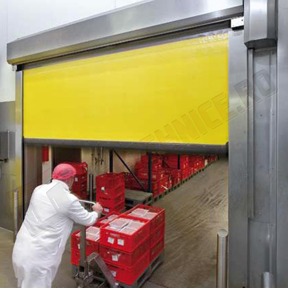 Usi rapide din inox igienice pentru industria alimentara