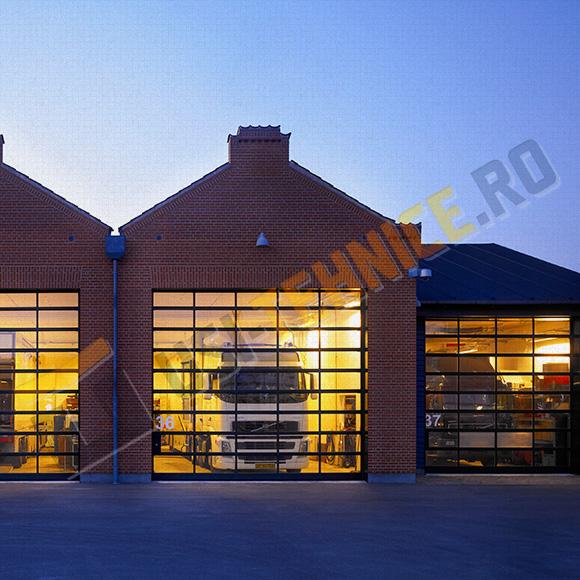 usi sectionale industriale vitrate pentru depozite si hale