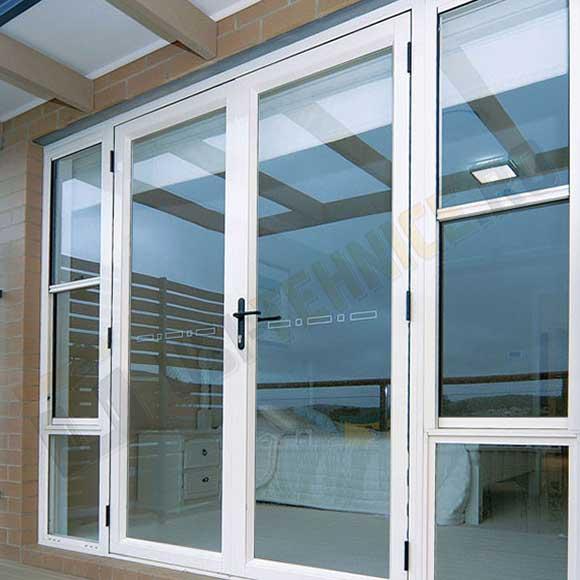 Usa din profile de aluminiu de exterior cu canat de sticla